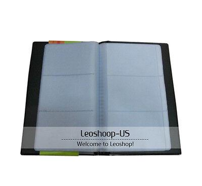 NEW Black 120 Sheets Business Name Cards Holder Book Case Organizer Wallet