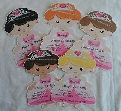 UNIQUE PERSONALIZED PRINCESS THEME BIRTHDAY, BABY SHOWER INVITES, THANK YOU CARD