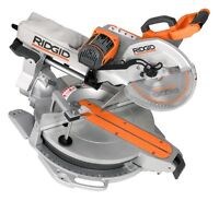"Ridgid 12"" sliding miter saw with table"