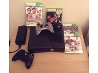 Used Xbox 360S 250Gb HDD with four games