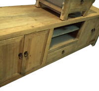 Solid Pine Wood TV cabinet