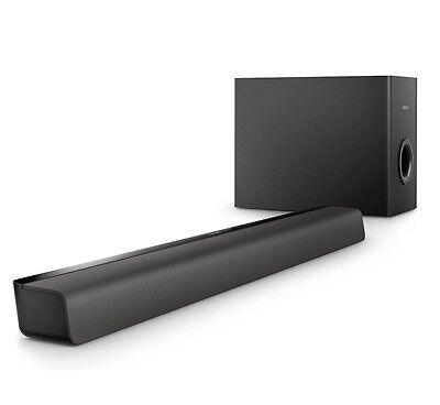Philips HTL2140B 2.1-Channel Soundbar with Wireless Subwoofer