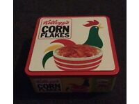 Kellogg's cornflakes tin