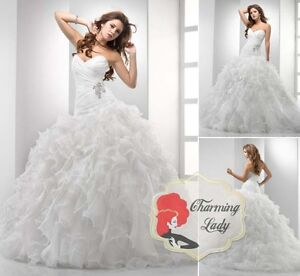 2013-NEW-Ruched-Cheap-White-Wedding-Dresses-Bridal-Prom-Gowns-Sz-6-8-10-12-14