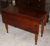 c.1840 Antique Cherry Dropleaf Table