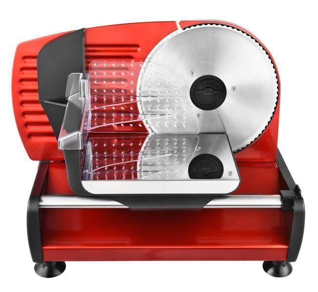 Metall Allesschneider Brotschneidemaschine Edelstahlmesser 19cm Rot NEU*80381