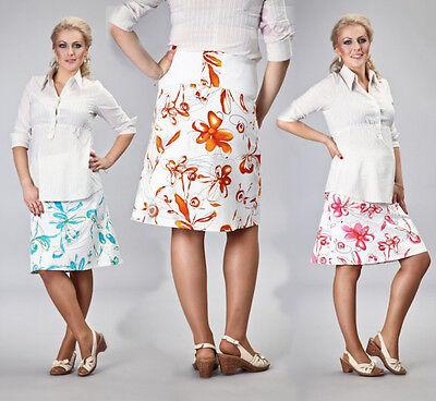 Frühling, Sommer, Umstandsrock Gr. S-XXXL blau, orange, pink, florales Muster  Orange Floral Muster