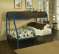 Blue Metal Bunk Beds