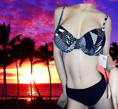 Silver By Gottex Multicolor 2 Piece Bra Bikini Swimsuit S...