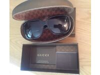 Genuine ladies Gucci sunglasses with authenticity certificate