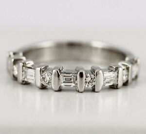14k White Gold Diamond Band (round/baguette, 0.40/0.12) #261 Oakville / Halton Region Toronto (GTA) image 6
