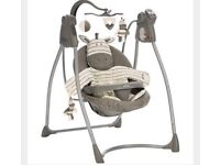 Graco Ziggy Zebra swing, music and motion like new condition up to 11kg