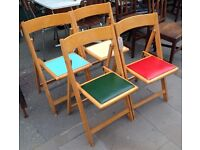 Set Of Four Folding Chairs