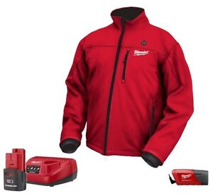 Milwaukee Heated Jacket (red) with Battery & Charger