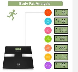 Body fat scale kcal bmi fat water new black weight £10 ono 5 available