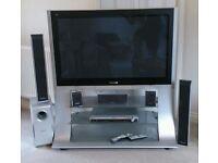"Panasonic TH42PX600B 42"" VIERA Flatscreen 720p HD TV & Home Theater Sytem"