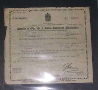 Antique radio licenses 1928 -1953