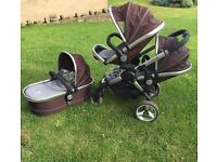 ICandy Peach Blossom stroller & carrycot reduced for quick sale from £250 to £195