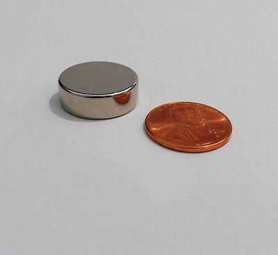 Brand New Neodymium Rare Earth Magnets N52 Grade 34 X 14 Very Powerful Discs