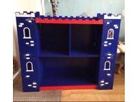 Fab Castle Shape Child's Bedroom Free standing Shelf