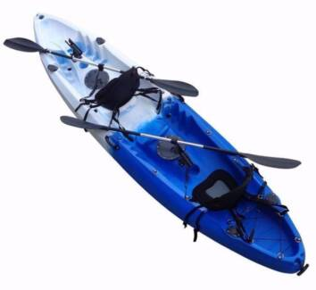 DOUBLE KAYAK PACKAGE NEW KAYAK OR CAN USE SINGLE OPEN EVERYDAY