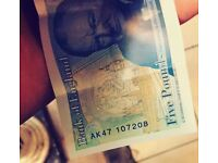 AK47 new five pound note for sale