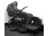 Silver cross wayfarer new model graphite 6 months old pram car seat etc..