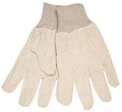 (12 Pairs) Memphis Cotton Canvas Work Gloves with Knit Wrist, Large
