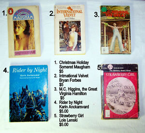 vintage-30 Children's Books, grade 5 readers age 10 & up $4to$12