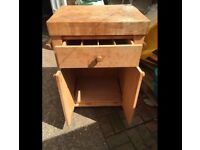 Wooden chopping & storage cabinet