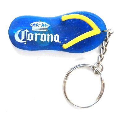 Corona Blue & Yellow Flip Flop Key Chain Blue Flip Flop Keychain
