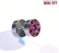 Metal Siam Red Funky Plug Falso - Piercing Imagen Pendientes De Enchufe Joya -  - ebay.es