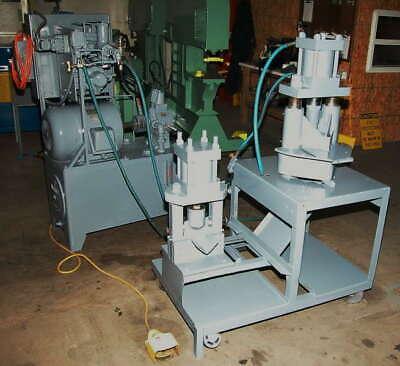 6 Universal Standard Hydraulic Angle Shear 6 X 6 Corner Notcher Vertical 2 S