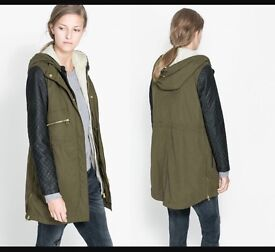 Zara coat large - £40 Used but in good condition