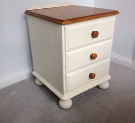 Shabby Chic Ducal Pine Bedside Cabinet