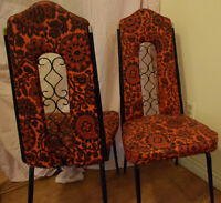 Pair of Retro Wrought Iron dining chairs