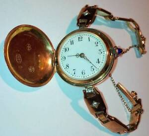 Antique Pink Gold Ladies Watch Jeweled Movement REDUCED