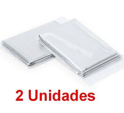 2 Unidades de Manta Termica impermeable y plegable 130x210 cm, deporte, ocio,etc