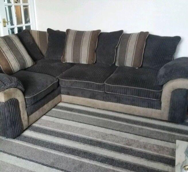 Large Jumbo Cord Corner Sofa In Norwich Norfolk Gumtree