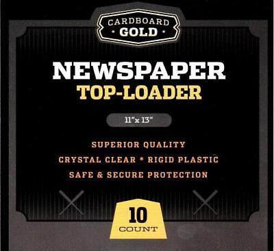 10 - CBG NEWSPAPER / TABLOID 11x13 STORAGE DISPLAY RIGID TOPLOADER HOLDERS