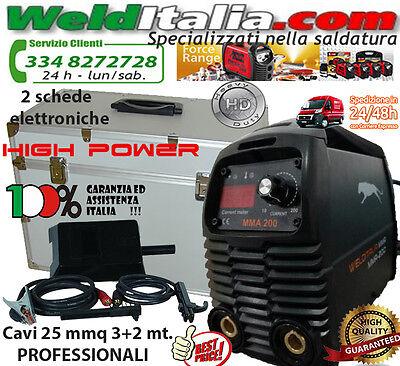 SALDATRICE INVERTER 160A WELDITALIA VALIG. CAVI 3+2 MT. ELETTRODO PROFESSIONALE, usato usato  Ardea