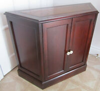 Vintage Leather Top Mahogany Cabinet