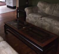 Tables en bois véritable