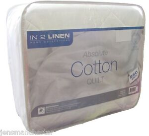 100-Cotton-SINGLE-Size-Summer-Weight-Quilt-Doona-250-gsm-MACHINE-WASHABLE