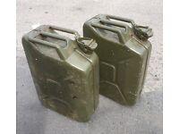 2 quality army Gerry cans diesel petrol