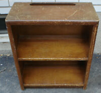 1940s wood wooden small apt. size bookcase antique vintage