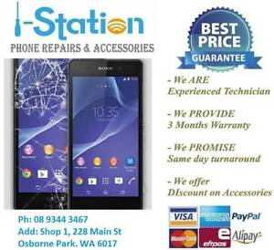 Sony HTC LG Moto Phones Cracked Screen LCD Repair Service Osborne Park Stirling Area Preview