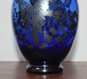 Cobalt Blue with Silver Overlay Vase Kingston Kingston Area image 4