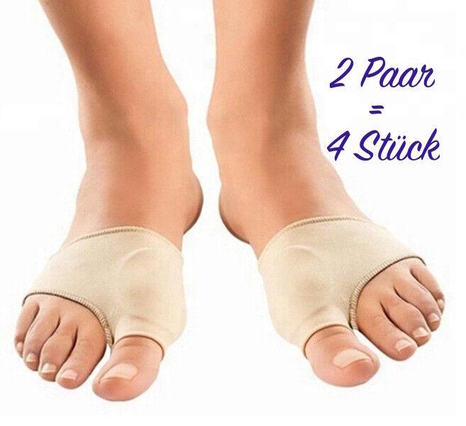 4  Silikon Bandagen, bei Hallux Valgus, Hammerzeh, Gel Bandage, Fußbandage