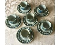 MIDWINTER STONEHENGE CAPRICE CUPS, SAUCERS AND TEA PLATES